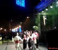 Снимка от видео клиповете Граовско хоро в изпълнение на кладничани за откриването на Сурва 2014