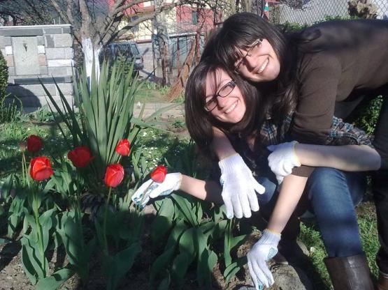 Ива и Зорница - в градината nature vivante